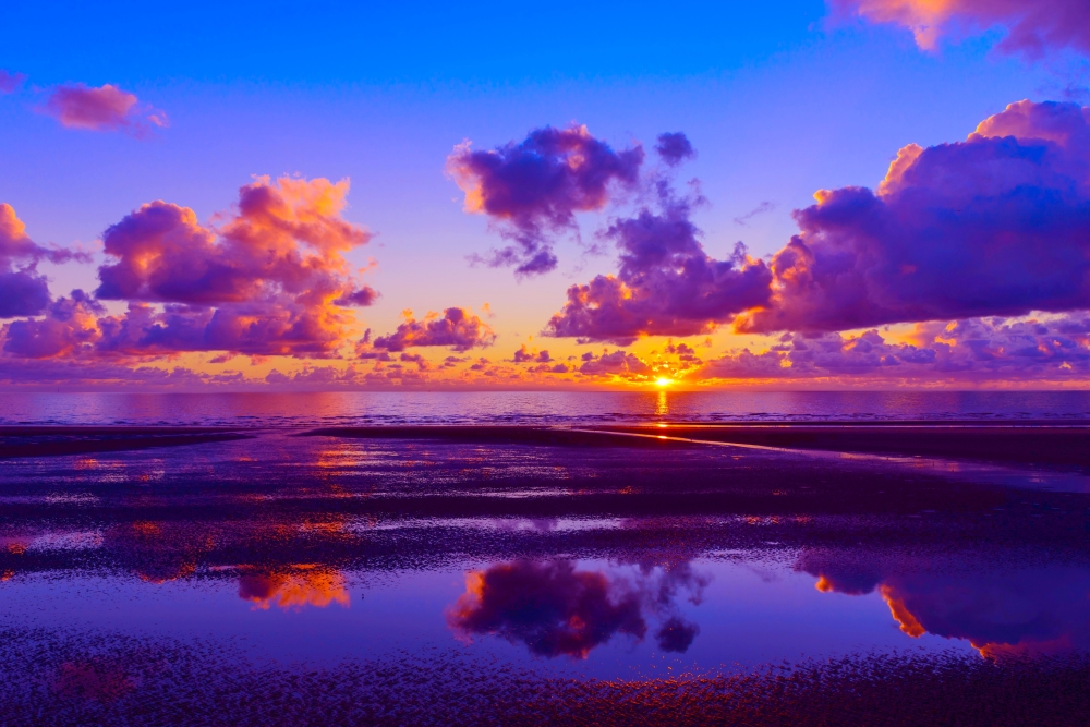 Sunset Horizon Desktop Background